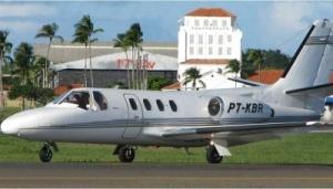 Foto de divulgação da PF - O jato executivo Cessna foi encontrado pela polícia em um hangar em Belo Horizonte